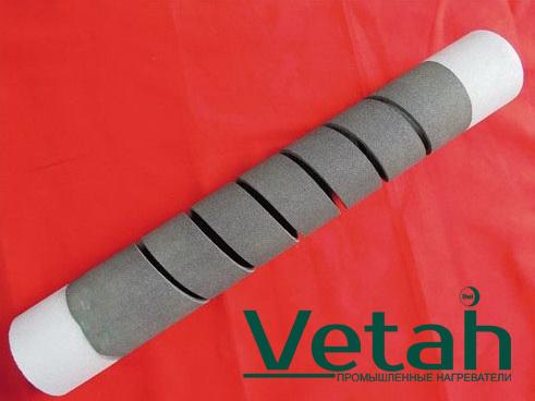 Фото карбидокремниевый нагреватель спиральный двухконцевой тип SG