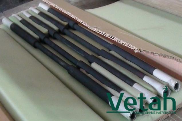 Фото купить нагревательные элементы Промышленные Высокотемпературные карбидкремниевые нагреватели тип GS